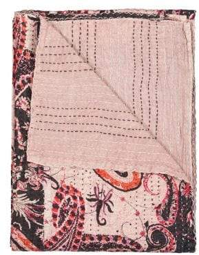 +Hotel by K-bros&Co TAJ HOTEL Kantha Quilted Cotton Throw
