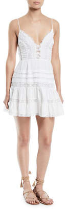 Zimmermann Iris Lace-Trim Sleeveless Mini Dress