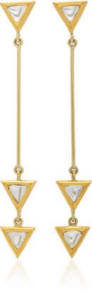 Amrapali Kundan 18K Gold and Diamond Drop Earrings