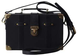 Most Wanted Design by Carlos Souza Lily's Trunk Box Leather Crossbody Bag