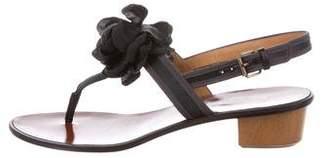 Lanvin Satin Embellished Sandals