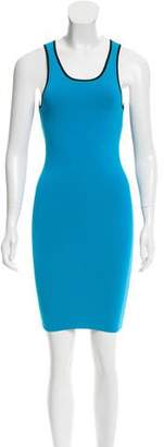 Intermix Open Knit-Accented Bodycon Dress