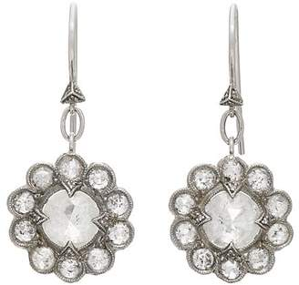 Cathy Waterman Women's Diamond Floral Drop Earrings