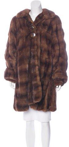 Fendi Knee-Length Mink Fur Coat