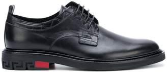 Versace croco-embossed Derby shoes