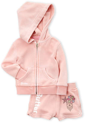 Butter Shoes Infant Girls) Two-Piece Hoodie & Shorts Set