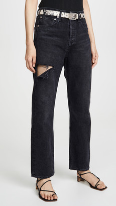 A Gold E Agolde 90's Mid Rise Loose Fit Jeans