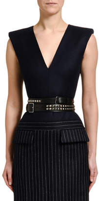 Alexander McQueen Double-Wrap Studded Leather Belt