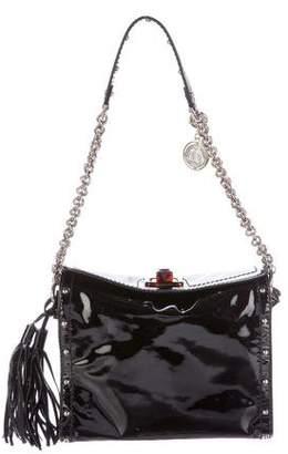 Lanvin Studded Patent Leather Shoulder Bag