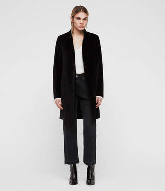 AllSaints Leni Velvet Coat