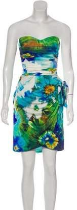 Blumarine Sleeveless Printed Mini Dress