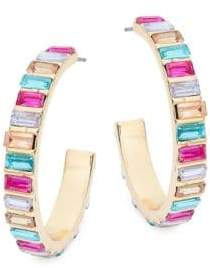 Ava & Aiden Multicolored Crystals Hoop Earrings