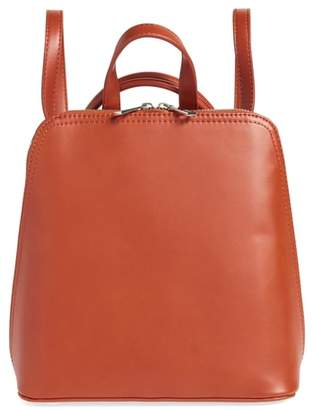 Street Level Structured Faux Leather Backpack