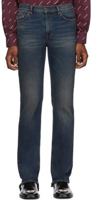 Balenciaga Indigo Fitted 5-Pocket Jeans