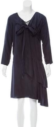 Chris Benz Silk Tie-Neck Dress