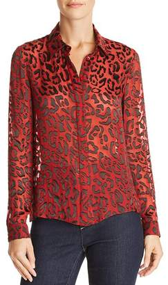 Alice + Olivia Willa Leopard Burnout Blouse