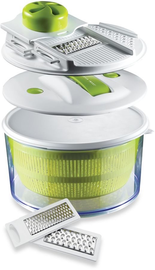 Sharper Image 4-in-1 Salad Spinner Mandoline Slicer