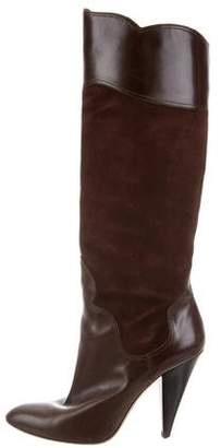 Oscar de la Renta Pointed-Toe Knee-High Boots