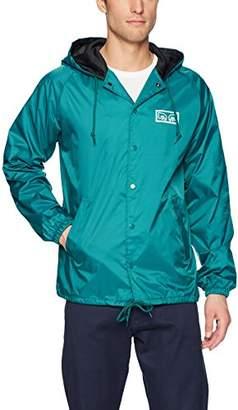 Obey Men's Eyes Hooded Nylon Coaches Jacket