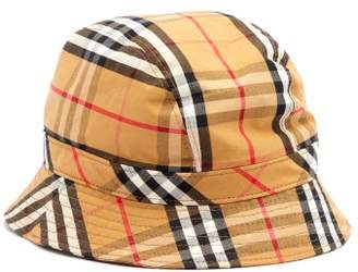62636d69b81cb Burberry Vintage Check Cotton Bucket Hat - Mens - Tan Multi