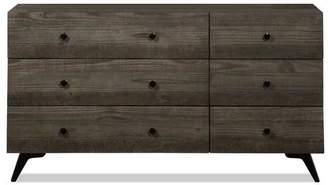 Apt2B Crockett 6 Drawer Dresser DARK PINE