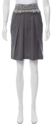Brunello Cucinelli Pleated Knee-Length Skirt