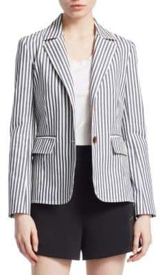 Derek Lam 10 Crosby Striped Cotton Blazer