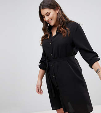 Lipsy Curve Button Front Shirt Dress