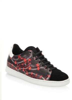 Marcelo Burlon County of Milan Isabel Snake Printed Leather Sneakers