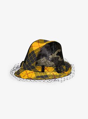 Michael Kors Tartan And Camo Veil Hat
