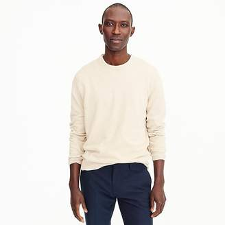 J.Crew Cotton-cashmere piqué crewneck sweater in bird's-eye stitch