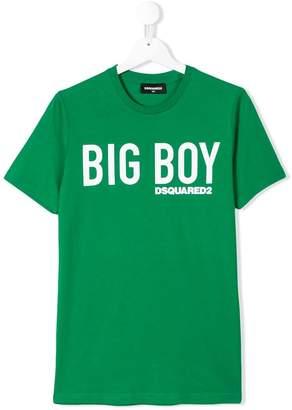 DSQUARED2 TEEN big boy print T-shirt