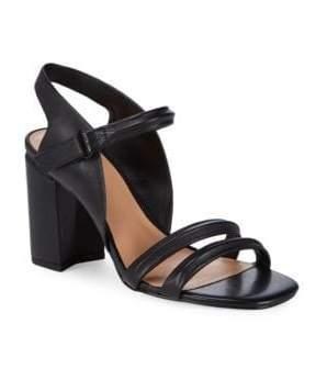 Halston Classic Leather Slingback Sandals
