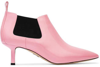 Paul Andrew Ang Patent-leather Ankle Boots - Pink