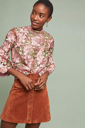 Anna Sui Metallic Rose Blouse