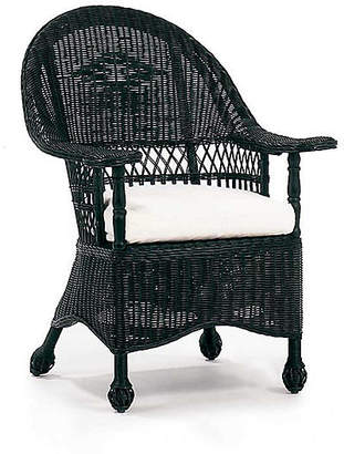 One Kings Lane Paddle Wicker Armchair - Black