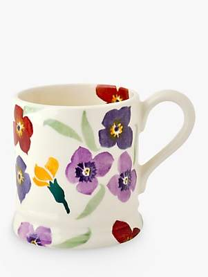 Emma Bridgewater Wallflower Half Pint Mug, Multi, 310ml
