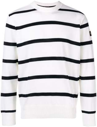 Paul & Shark logo patch striped sweater