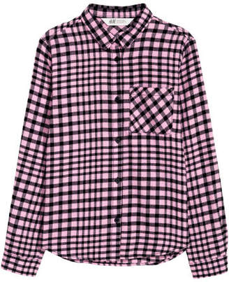 H&M Cotton Flannel Shirt - Pink
