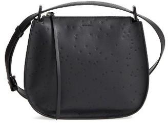 Allsaints Mini Echo Star Embossed Calfskin Shoulder Bag - Black $278 thestylecure.com