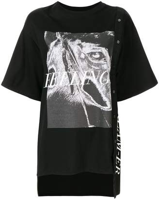 Christian Dada combined graphic print shirt