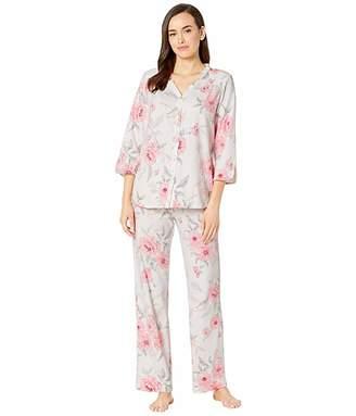 Carole Hochman Cotton Jersey 3/4 Sleeve Long Pajama Set