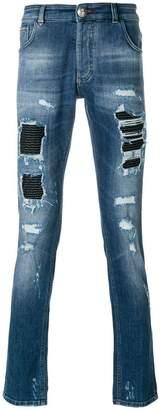 Philipp Plein Camou Details jeans
