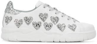 Chiara Ferragni glitter heart sneakers