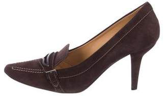 Tod's Suede Loafer Pumps