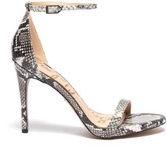Sam Edelman 'Ariella' ankle strap snake embossed leather sandals