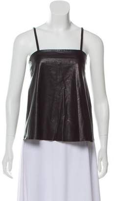 Zadig & Voltaire Leather Sleeveless Top w/ Tags