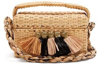 BEIGE Sanayi 313 - Carolsello Tassel Trimmed Straw Bag - Womens Multi