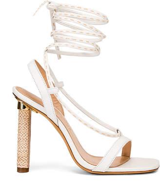 Jacquemus Bergamo Sandals in White Leather | FWRD