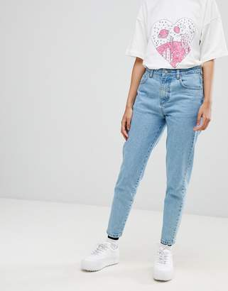Chorus Mom Jeans with Spaceship Embroidered Back Pocket